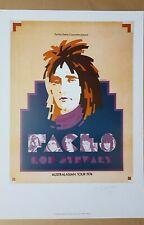 Rod Stewart and The Faces Australian Tour 1974 Ian McCausland Artist Ed Signed