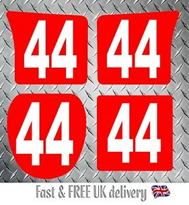 Kart Race Numbers including Background x 4 - MSA 2020 Compliant (RW) S1