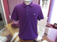 "Lacoste Men's FR 5 Slim Fit US Large  Polo T Shirt  - 44"" Chest"