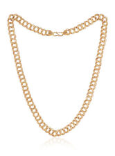 Classy Dubai Men's Cuban Link Chain Necklace In Solid Hallmark 22K Yellow Gold
