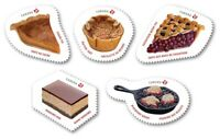 SWEET CANADA 2019 = CAKE PIE = Set of 5 stamps DIE CUT to shape from QP = MNH VF