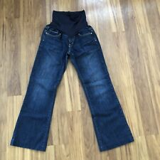 Gap Maternity Jeans Size 6 Short Dark Wash Straight Stretch Denim Pockets
