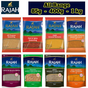 RAJAH Indian Asian Whole Spices Ground Spices Seasoning Chilli Curry Powder