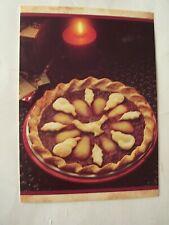 1988 BETTY CROCKER CHRISTMAS CARD - PARTRIDGE IN A PEAR TREE PIE - UNUSED