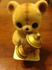 Vintage Fuzzy Wazzy The Lovable Bear With Gold Trophy Joseph Original Japan Tags