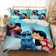 Cartoon Children Boys Girls Duvet Cover Bedding Set Pillow Cases Lilo & Stitch