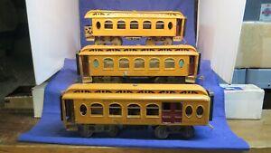 Lionel Prewar Standard Gauge 18 19 190 Passenger Cars! CT