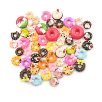 10X Telefon Dekor Handwerk Miniatur Harz Donut Puppenhaus Lebensmittelversorgung