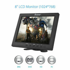 "8"" LCD TFT Display Monitor 1024*768 VGA BNC Video Audio HDMI Input Built Speaker"