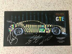 "WEC ASTON MARTIN RACING ASTON MARTIN VANTAGE GTE LE MANS 2015 ""ART CAR""SPEC CARD"