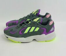 Adidas Men's Yung-1 Casual Sneakers, Legend Ivy/Hi-Res Yellow/Active Purple New