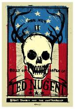 Scrojo Ted Nugent Brent James + Contraband Belly Up Aspen '11 Poster Nugent_1107