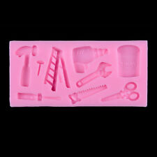 Tools Silicone Cake Fondant Mold Topper Hammer Spanner Baking Mould Decor LWY