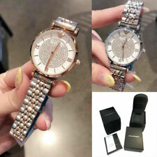 2021 Rose Silver Two Tone Crystal Pave Dial Women Bracelet Watch Girlfriend New