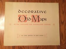 Decorative Old Maps of the 16th and 17th Century 6 Fine Prints in Color - Penn