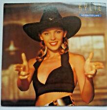"Kylie-nunca es demasiado tarde/Kylie's Smiley Mix 7"" Vinyl Record 45 Rpm 1980s Música"