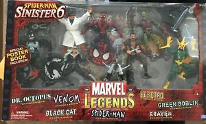 Marvel Legends 2004 Spiderman vs Sinister 6 Sealed Toy Biz NIB