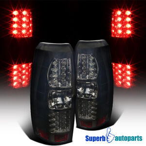For 2007-2012 Chevy Avalanche Smoke LED Brake Tail Lights Replacement