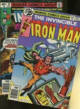 Iron Man 118,Invaders 40 *2 Books* Marvel! 1st James Rhodes 1st Appearance!