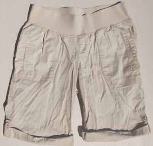 Duo Maternity Khaki Shorts Women's Size Medium W/ Pockets