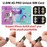 Perfect U-SIM 4G PRO Unlock SIM Card For iPhone Xs X 8 7 6s 6 plus 5s iOS 12.2