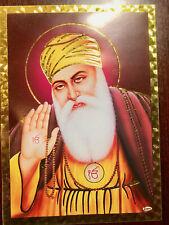 Beautiful picture of Guru Nanak (Golden Foil Paper 5x7 Inches) new