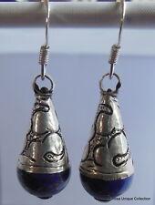 Earrings Nepalese Handmade Lapis Earring Drop Ear Ring Dangle Earring ER-62