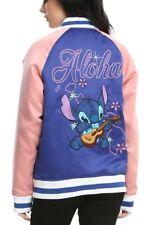 Disney Lilo & Stitch Aloha Blue & Pink Bomber Jacket Size Small New With Tags!