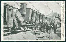Vercelli Varallo Sesia Roccapietra Disastro Ferroviario Treno cartolina QK5119