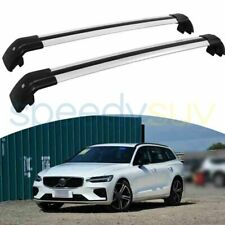 For Volvo V60 2019 2020 Silver Cross Bar Roof Rack Rail Anti-Theft