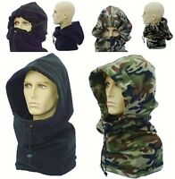 Snood Fleece Balaclava Hat Black Camo Winter Hood Warm Neck Warmer Mens Ladies