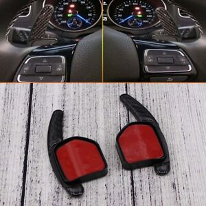 FOR AUDI A1/A3/A4/A5/A6/A7/S5/Q5/Q7/TT CARBON FIBRE PADDLE SHIFT EXTENSIONS
