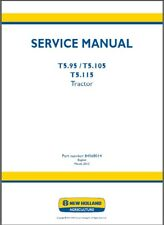 New Holland T5.95 / T5.105 / T5.115 Tractor Service Manual on a CD