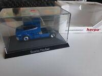 Herpa 1:87 Scania Hauber metallic blue 110242