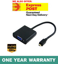 Micro HDMI Type D Male to VGA Female Converter Adapter Cable For PC Laptop HDTV