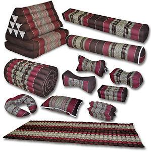 Kissen Matte rot braun Yoga Deko Boden Garten sitzen liegen Couch Thai