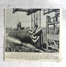 1954 Launch Of World's First Atomic Powered Submarine Uss Nautilus Connecticut