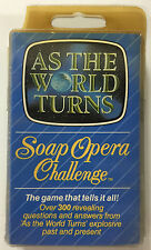 Soap Opera Challenge AS THE WORLD TURNS Vintage Card Game New in Package w/Dice!