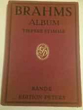 Brahms : Lieder für tiefere Singstimme mit Klavierbegleitung Bd. 2 - gebunden