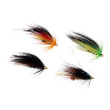 El tubo de 4 piezas vuela cabezas del cono 4 salmones del color y pesca con