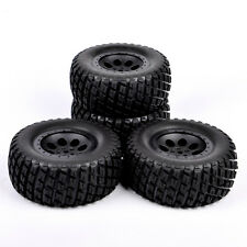 4Pcs Short Course Truck Ruber Tire Wheel Rim For RC 1:10 TRAXXAS SLASH 12mm Hex