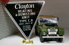 Land Rover Series 1 MG Bentley Vintage Clayton Heater Metal Label Decal Badge