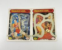 1983 Fleer Dragons Lair Complete Scratch Off Card Game - Lot Of 2