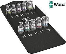NEUF Wera 10 pièces 1.3cm SQ DR métrique Support Fonction Ensemble de douilles