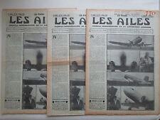 AILES 1936 770 BREGUET FULGUR LACAB GR-8 HELICE HYDRAVION JACQUEMIN POU ITALIE