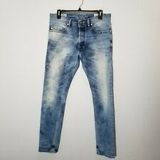 Diesel Tepphar Slim Carrot Acid Wash Blue Denim Jeans Men's Sz 31x30 EUC B9