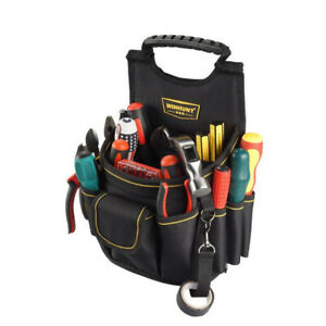 Professional Tool Bags Multi Pocket Pouches for Electricians Carpenters Builders