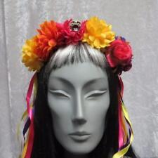 DAY OF THE DEAD MEXICAN SENORITA SUGAR SKULL FLOWER HALLOWEEN HEADBAND
