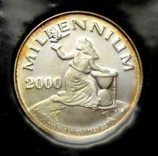 RARE 20 DOLLARS LIBERIA MILLENNIUM 2000 1 OZ .999 FINE SILVER ROUND w/CoA