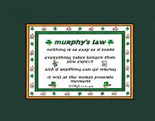 AN IRISH SAYING MURPHY'S LAW